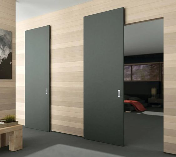 Magic 2 Wall Mount Concealed Sliding System For Wood Doors Made In Italy Modern Sliding Doors Doors Interior Modern Sliding Doors