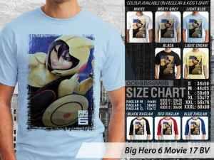 Kaos Wasabi Big Hero 6 Movie, Kaos Microbots Big Hero 6 Movie, Kaos Big Hero 6 Tadashi Hamada, Kaos Big Hero 6 Movie Couple Family