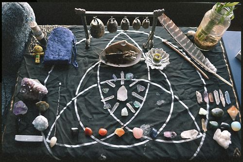 thegaywiccan:  My new Altar set up now that I'm back at school :)