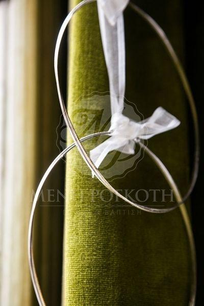 Στέφανα γάμου διπλή βέργα ασημί - χρυσό