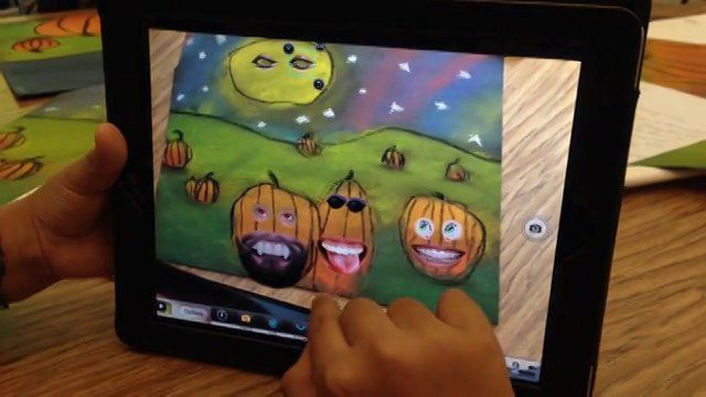 5th Graders Used iPads (Unicorn Shots App) to Add Faces to their Pumpkin Landscapes on Vimeo