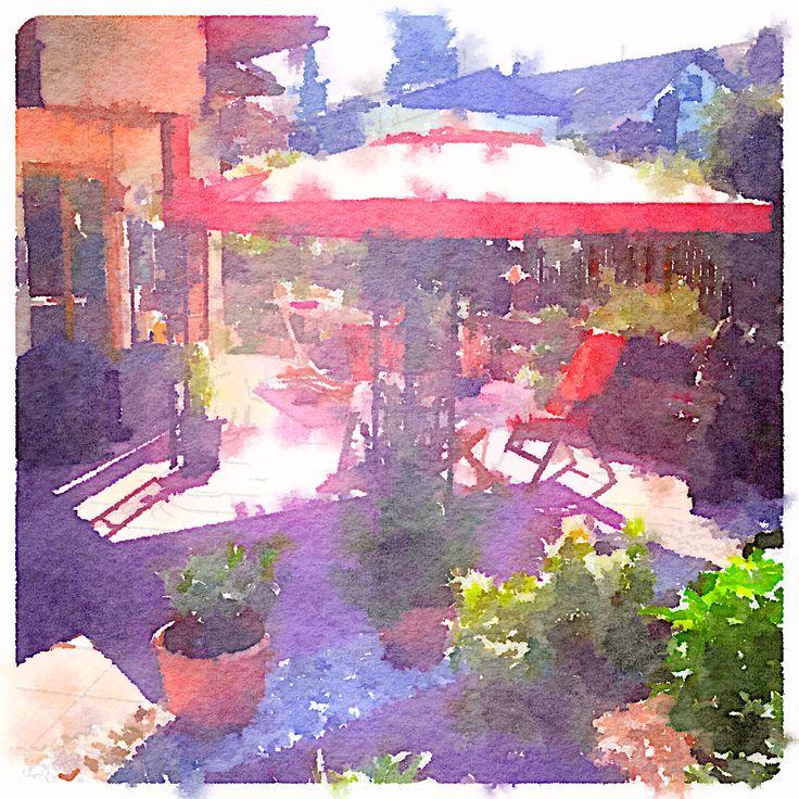 Terrasse painting Pavillion