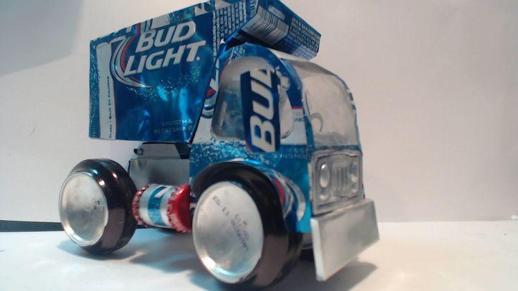 Camion de Volteo hecho con latas de aluminio tutorial (Dump Truck made with aluminum cans tutorial)