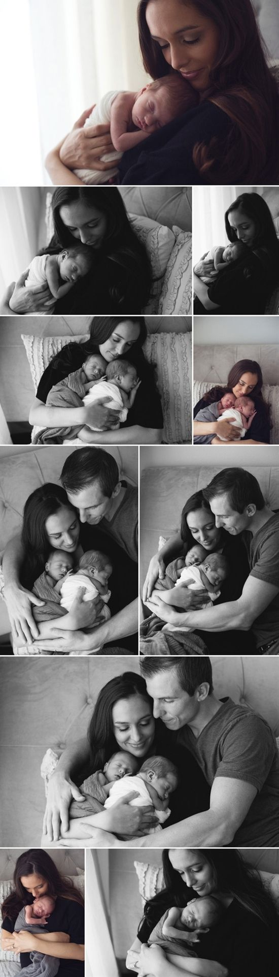 newborn baby love the picture with the mom and twi