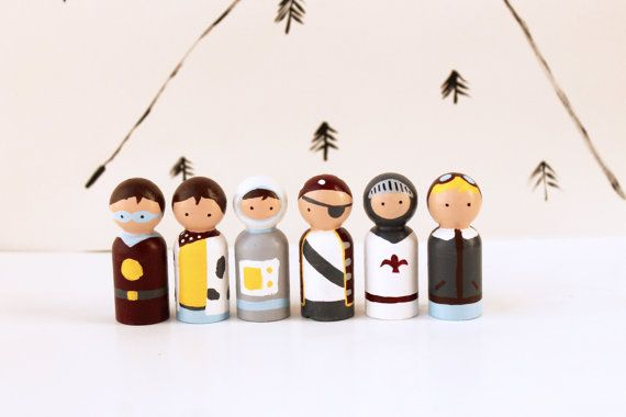Children's Wooden Toys - Adventure Peg Dolls