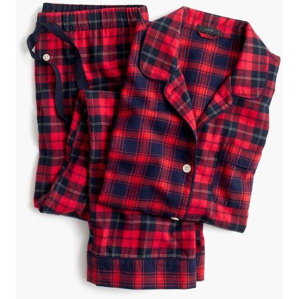J.Crew Mixed Plaid Flannel Pajama Set (1.045 NOK) ❤ liked on Polyvore featuring intimates, sleepwear, pajamas, flannel pajama set, plaid flannel pajamas, long sleeve pyjamas, plaid pajama set and j crew sleepwear