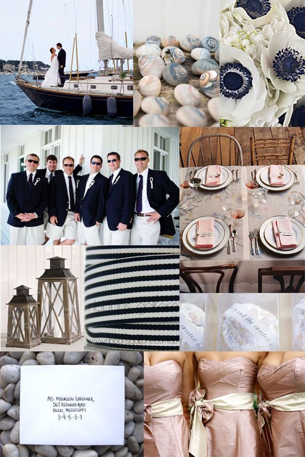vintage nautical inspired wedding dresses   Your Wedding Support: GET THE LOOK - Nautical Themed Wedding