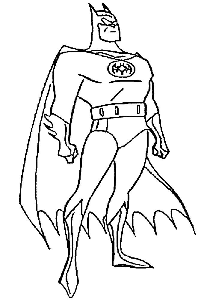 Imprimir Gratis Dibujos Para Colorear Superhéroes Libro Batman