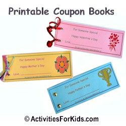 Fill in the blank, printable Coupon Books for kids at ActivitiesForKids.com