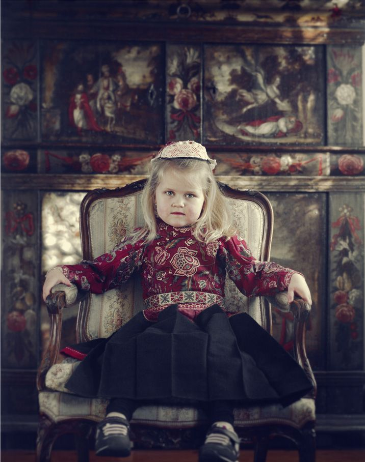 """Girl in traditional dress, Marken Netherlands, from Jimmy Nelson's serie """"Before they pass away"""""""