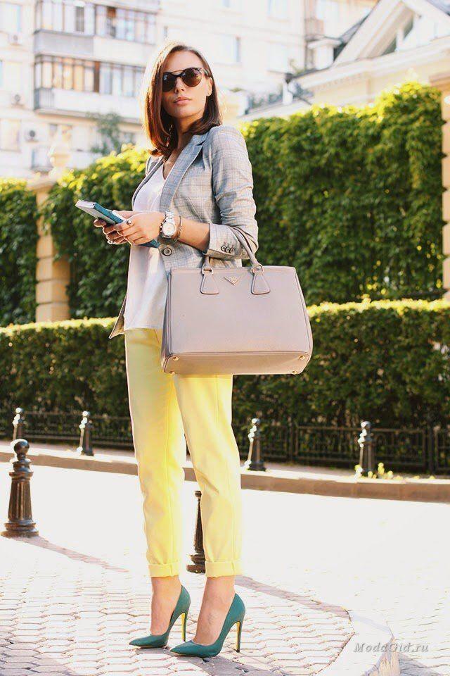 Уличная мода: 55 образов: летний офисный стиль 2014