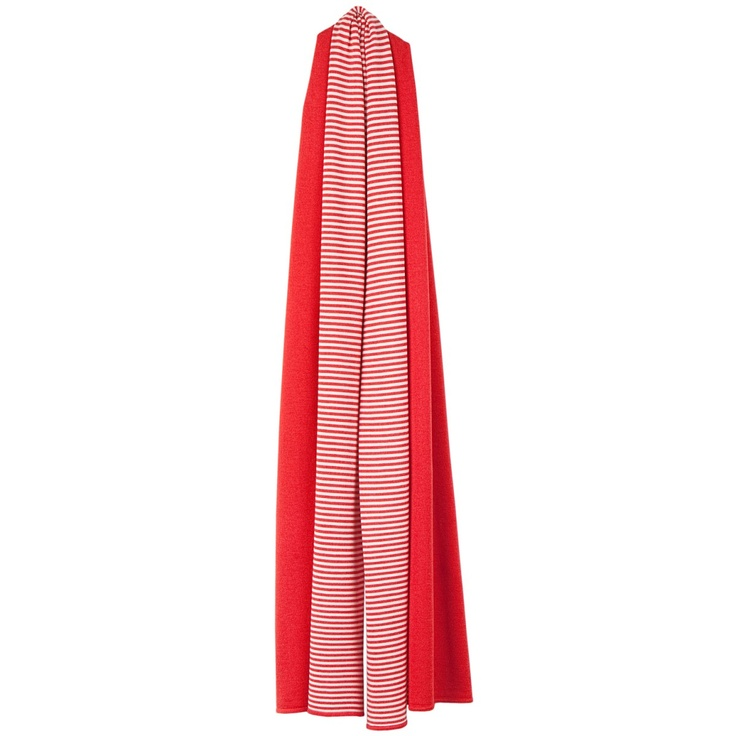 Arelalizza blocked striped scarf