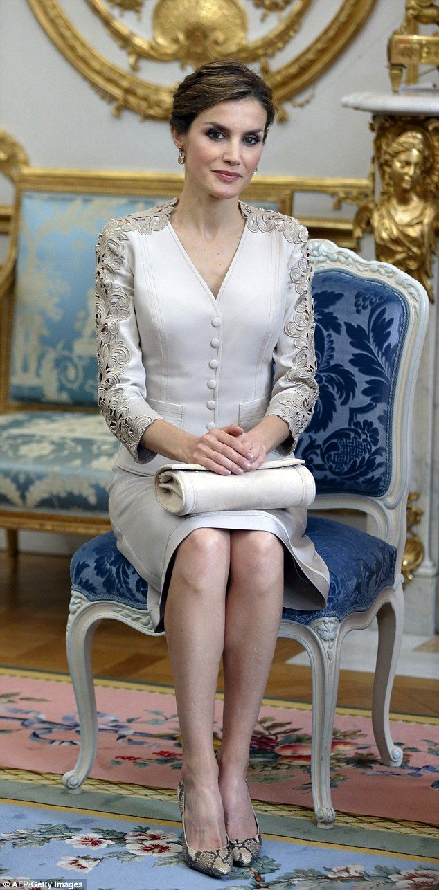 Queen Letizia has been showcasing some serious sartorial prowess during her year on the throne and today's outfit was case in point