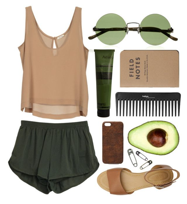 """""""Untitled"""" by hanaglatison ❤ liked on Polyvore featuring The Row, See by Chloé, Gap, Aesop, Sephora Collection and Maison Takuya"""