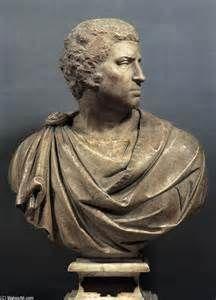 Busto di Caracalla 211 d.C. Marmo Conservato nei musei del Vaticano, Roma