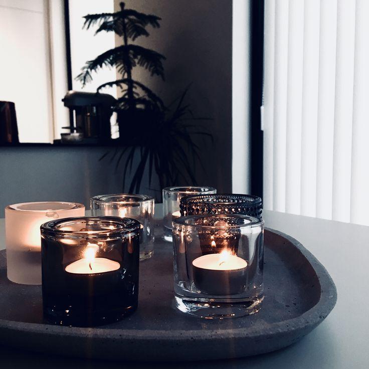 Keittiö ja kynttilänvalo. My home @raksatarinoita