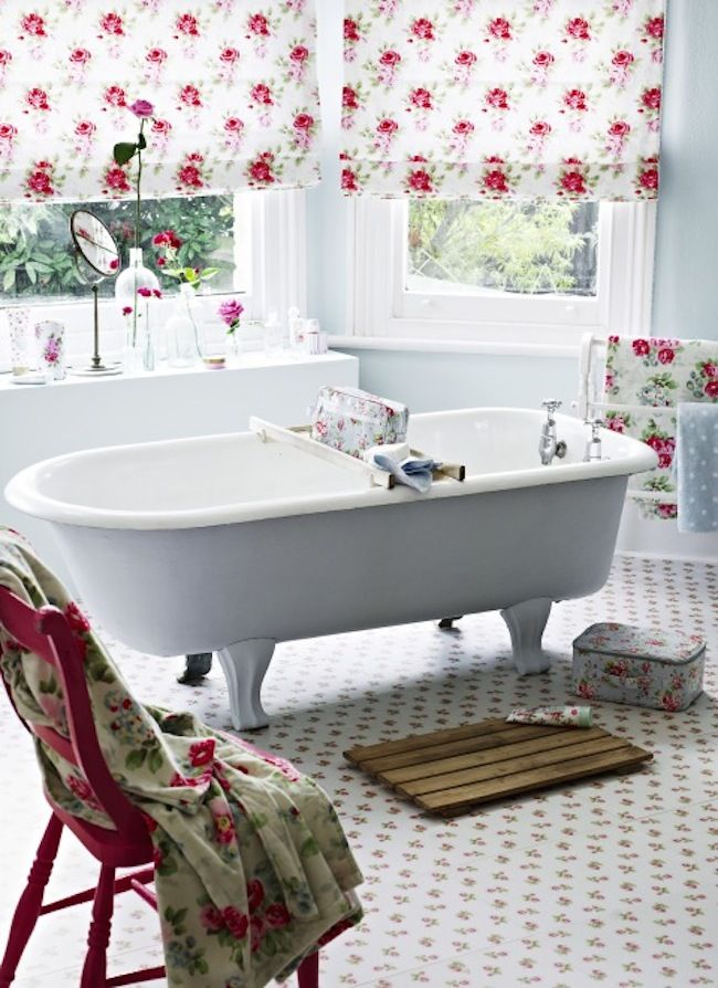 17 meilleures id es propos de salles de bains shabby for Salle de bain retro chic