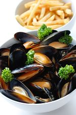 Mussels with French Fries :)