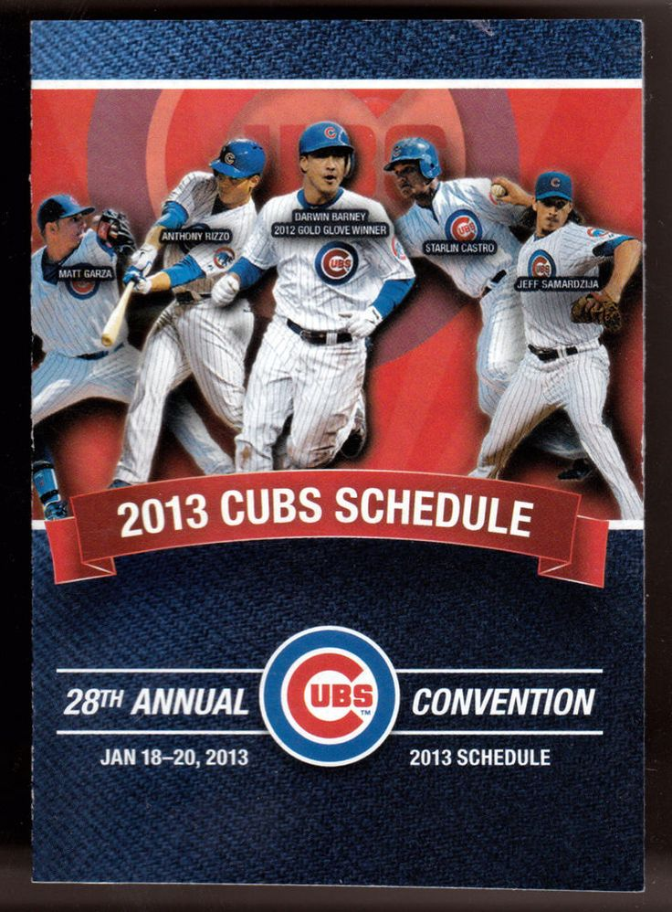2013 CHICAGO CUBS BANK OF AMERICA BASEBALL POCKET SCHEDULE