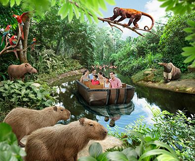River safari in Singapore? Let's try it before we had a chance to do it in Africa! :p #SGTravelBuddy