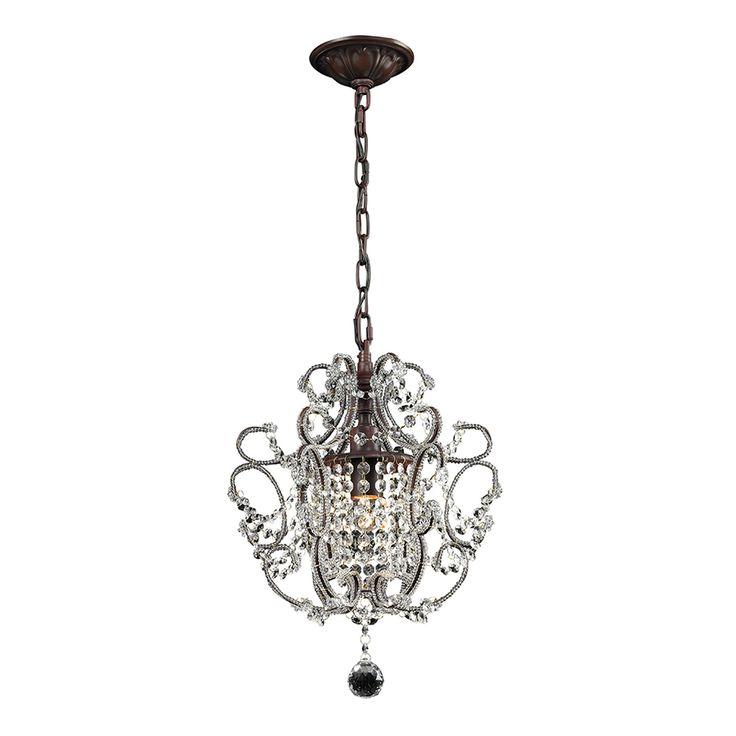shop westmore lighting 1 light rust chandelier at
