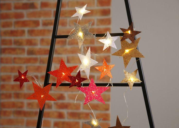 Superb LED Lichterkette Sterne f r uac Dekorative LED Beleuchtung
