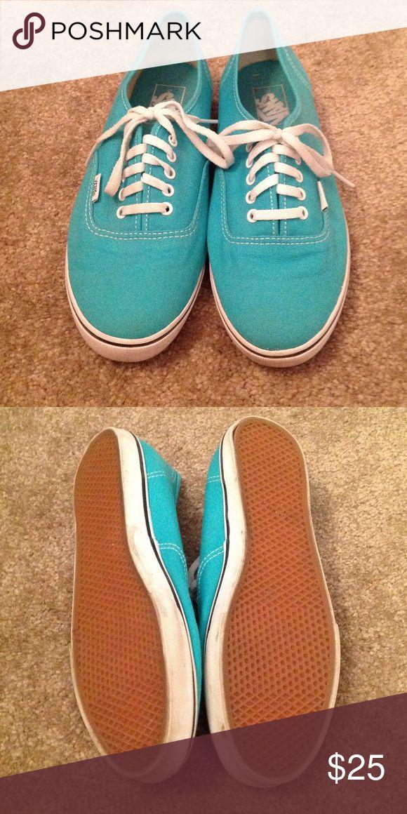 Teal Vans Worn once Vans Shoes Sneakers