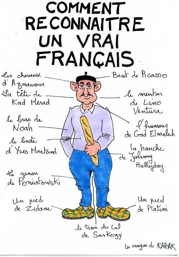 reconnaître un français