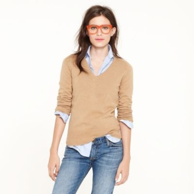 Love this look! Would you wear orange glasses?Clothing, J Crew, Dreams V Neck, Dreams Vneck, Fall Sweaters, V Neck Sweaters, Jcrew, Vneck Sweaters, Geek Chic
