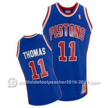 maillot nba pas cher Isaiah Thomas #11 bleu Detroit Pistons