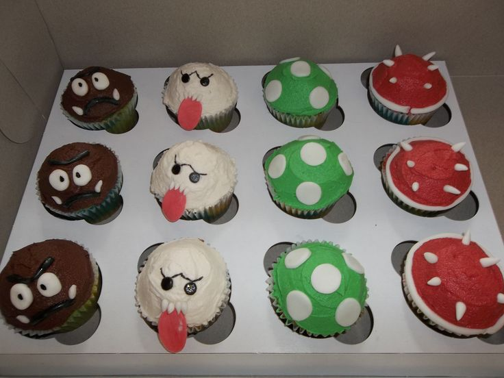 Super Mario Themed Cupcakes