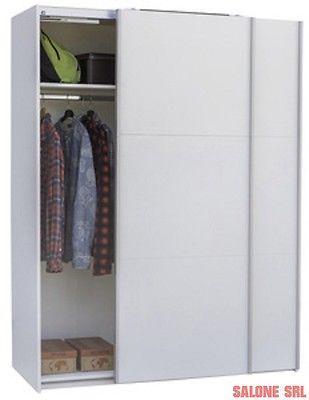 KIT ARMADIO FORMA 2 ANTE SCORREVOLI 150X63X200H MELAMINICO BIANCO in Casa, arredamento e bricolage, Arredamento, Altro arredamento | eBay
