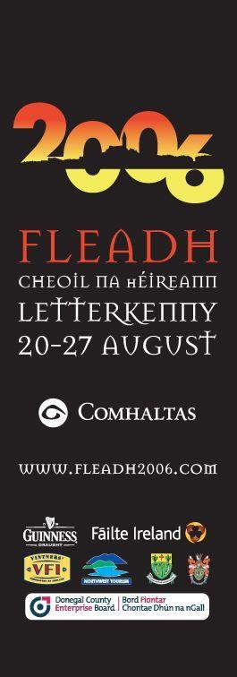 #civicmedia2006 Fleadh Cheoil na hÉireann Light Pole Banners. www.civicmedia.ie