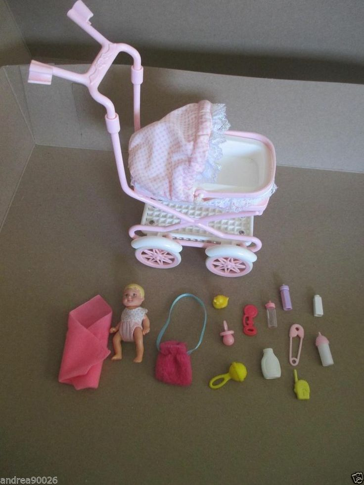 Barbie Baby Krissy & stroller