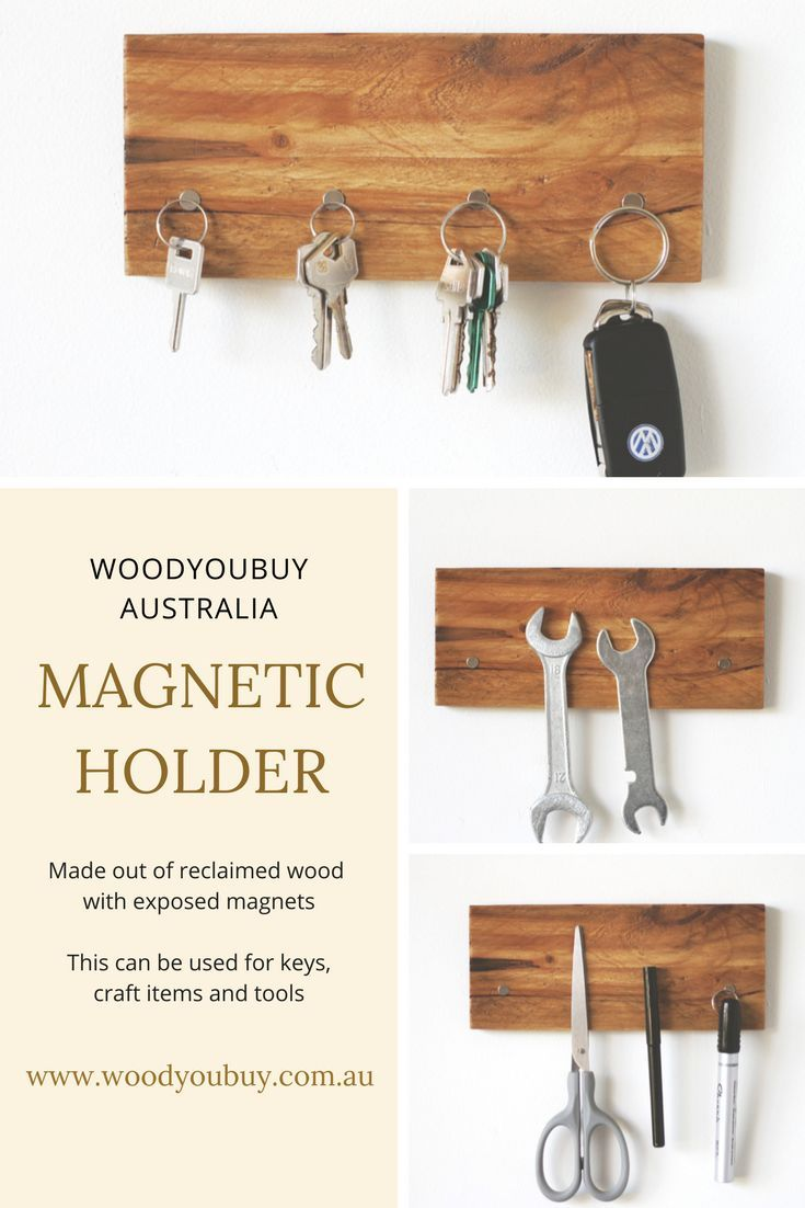 This Rustic Key Holder Made From Reclaimed Wood Will Organise All Your Keys In One Place With This You W Keys Organizer Wall Magnetic Key Holder Key Holder
