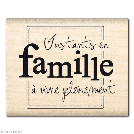 Tampon Souvenirs - Instants en famille