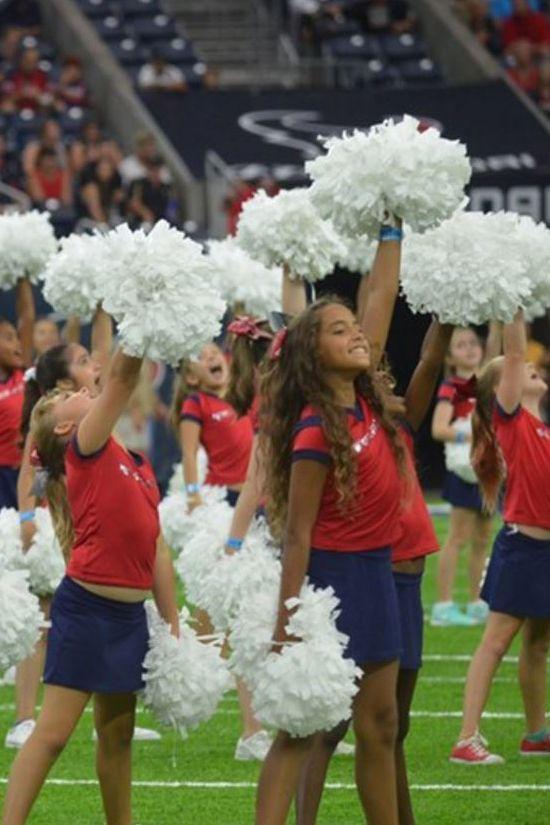 Houston Texans Junior Cheerleaders. Click through for 7 NFL Teams With the Most Adorable Junior Cheerleader Uniforms!