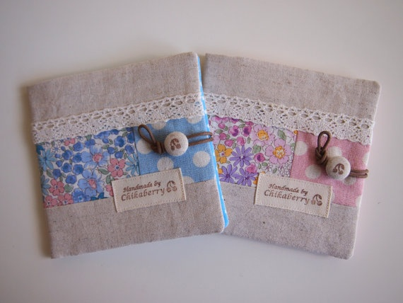 Sanitary Pouch  Flora Flower  by Chikaberry on Etsy, $12.00