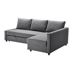 FRIHETEN Corner sofa-bed - Skiftebo dark gray - IKEA...possible solution to home office/guest bed quandry