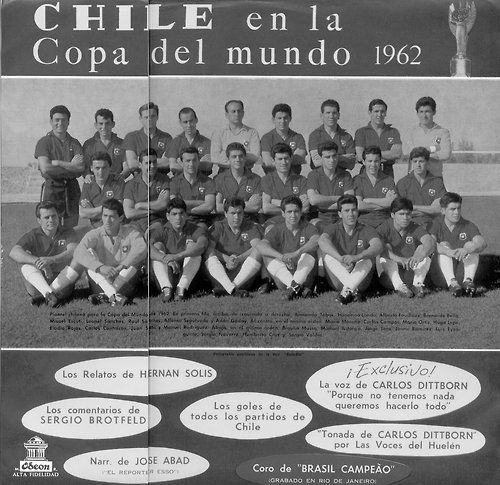 Chile anfitrión en la Copa del Mundo de 1962.