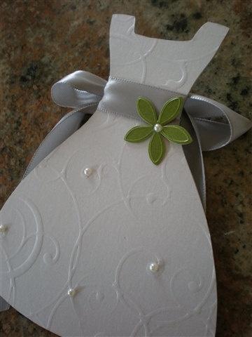 DIY Wedding Dress Invitation Design & Pattern by 2CuteNot2Share, $30.00