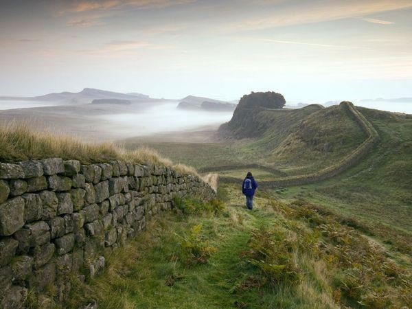 Hadrian's Wall, Northumberland - it stretches for 73 miles