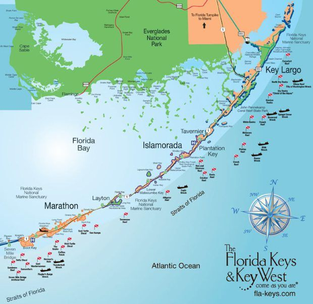 Florida Keys Map With Mile Markers.Florida Keys Travel Guide Everything You Need To Know Under The