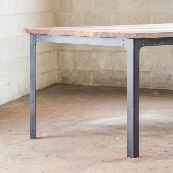 Industrial style dining room tables