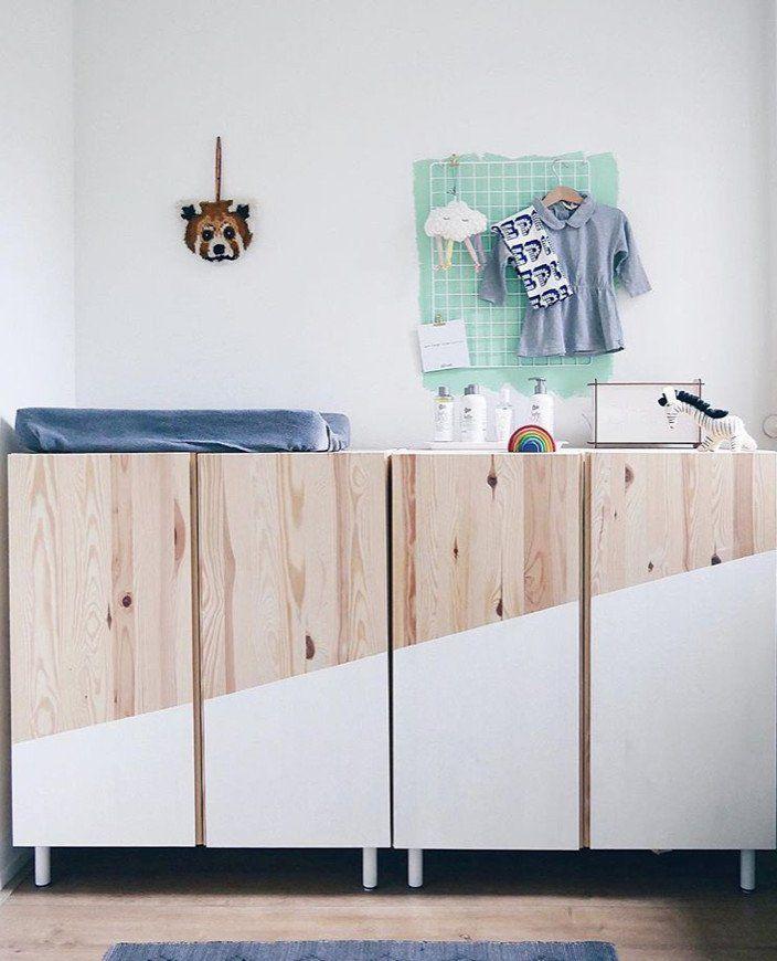 IKEA IVAR Hack Das Holzregal im Kinderzimmer in 2020