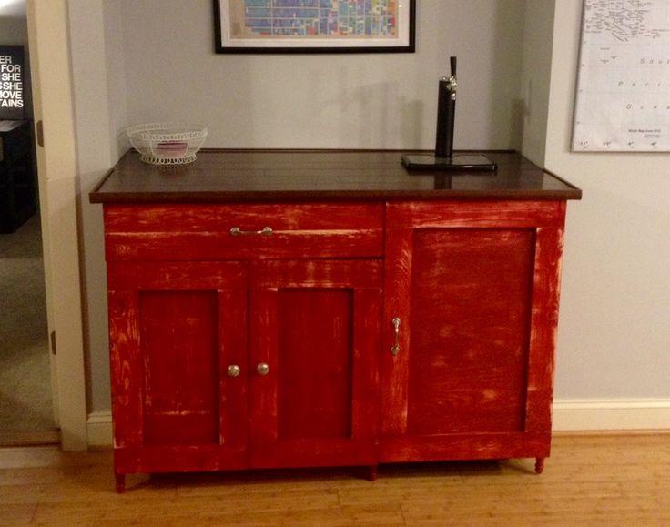 diy kegerator bar cabinet
