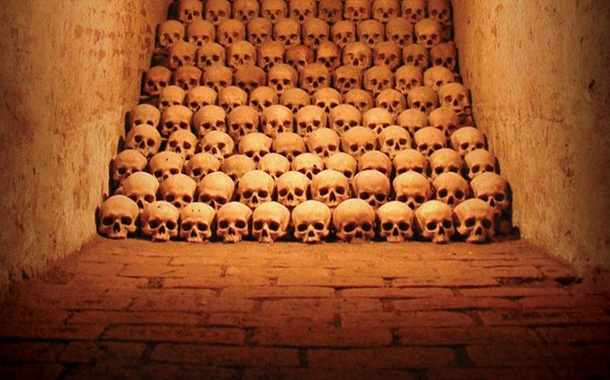 The Ossuary of St. James' Church. Brno, Czech Republic.