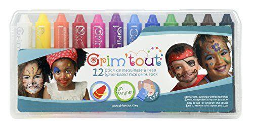 Grim'tout – Gt41883 – Boîte De 12 Sticks De Maquillage: Cette ensemble de crayons maquillage GrimTout est vendu par lot de 12. Vous…