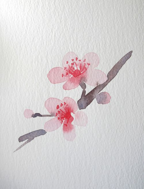 "Watercolor Flowers - Wang Jing I want this as a tattoo with the Chinese symbol ""happy"" underneath in small print"