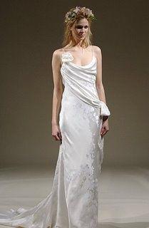 Sheath Wedding Dress : grecian wedding dress